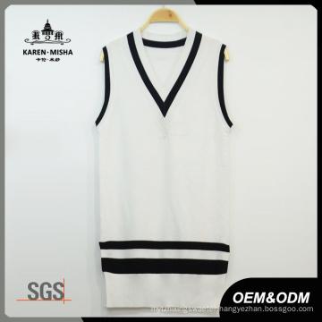 Women Preppy Style Basic Knit Vest