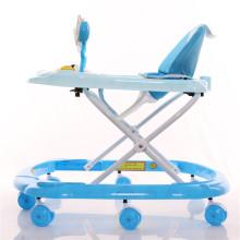 Plástico 8 ruedas ajustable ronda Baby Walker