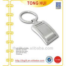 Porte-clés métallique en alliage de zinc plaqué Argent