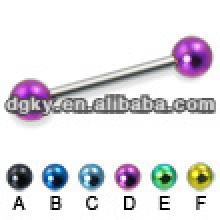 Personalized barbell tong rings fashion balls tongue bar
