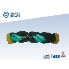 Cuerda de amarre de fibra de polipropileno negra y verde