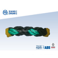 Black and Green Polypropylene Fiber Mooring Rope