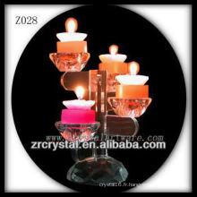 Bougeoir en cristal populaire Z028