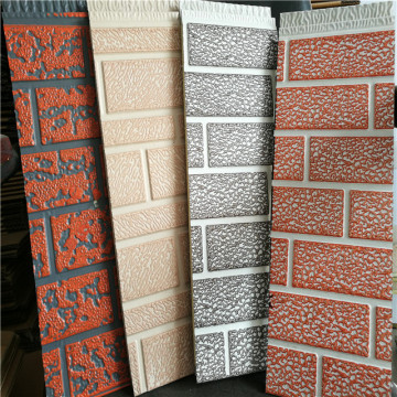 Metal insulated outdoor brick wall paneling