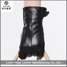 Billige und hochwertige schwarze Damen Lederhandschuhe
