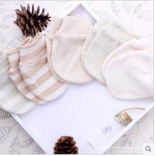 Luvas de algodão orgânico bonito para recém nascido bebê