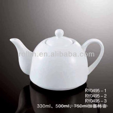 healthy durable white porcelain oven safe teapot with lid