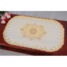 Placemat popular do PVC com a fábrica do ouro do laço