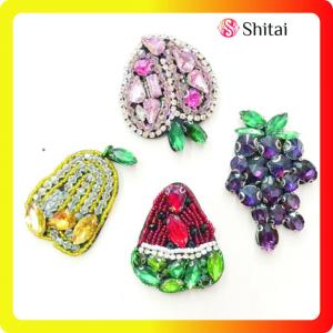 Fruit fashion beaded appliques for garments