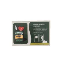 Vente chaude nettoyeur d'écran mobile microfibre imprimé carré collant