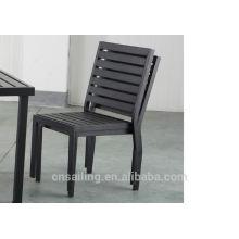 Hot sale Outdoor All Weather fauteuil à manger en bois sans bras