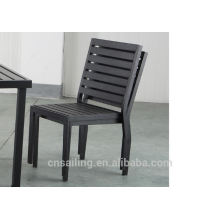 Hot sale Outdoor All Weather armless wooden dining chair