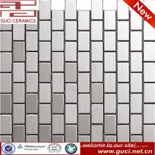 mosaïque d'acier inoxydable de rectangle d'approvisionnement d'usine de foshan pour la conception de mur
