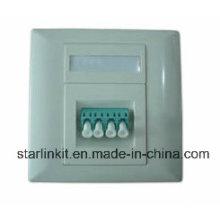 Plaque de façade à 4 ports fibre optique compatible avec Sc, LC, FC, St
