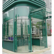 High Strength 4 - 19mm F-green, Bronze,blue Color  Curved Tempered Glass For Curtain Wall, Windows, Doors
