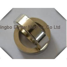 N48 Big Size Zinc Coating Ring Neodymium Permanent Magnet