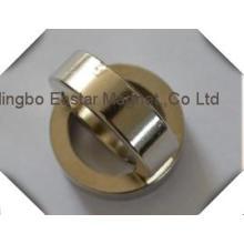 N48 Tamanho grande zinco revestimento anel neodímio ímã permanente