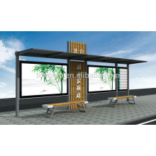 THC-43BL small bus stop shelter with small lighting box
