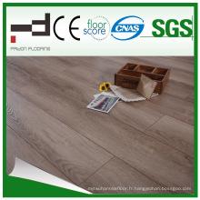 Plancher stratifié brun clair classique de HDF