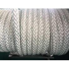 La fibra química 12-Strape rope el polietileno de la cuerda del amarre, poliéster mezclado, cuerda de nylon