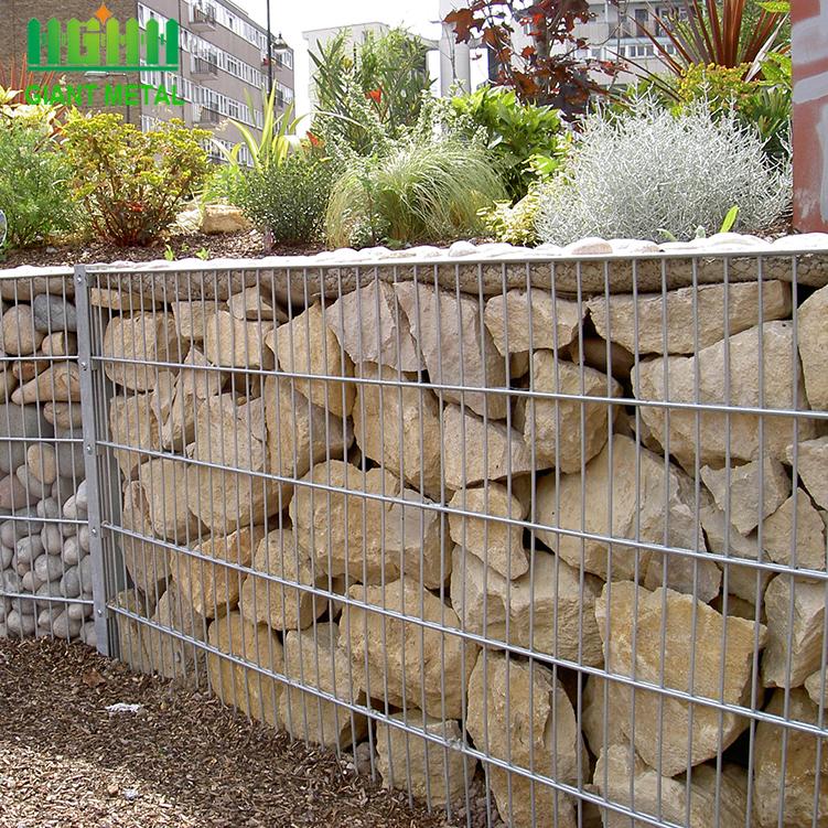 verzinkter Gabionen-Stützmauer-Gabionenzaun
