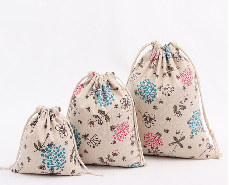 Custom fancy printing jute storage bag wholesale