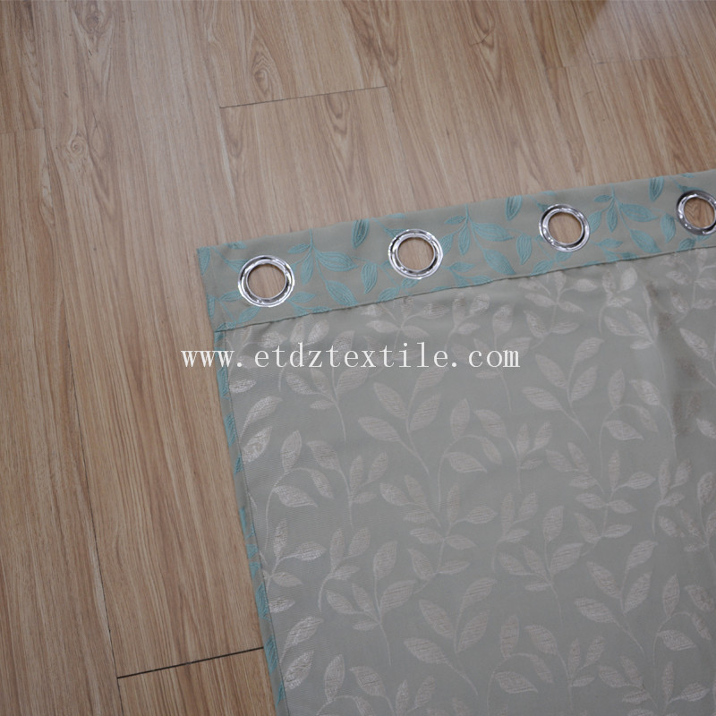 Polyester Shrinkage Yarn Dyed Jacquard Curtain Fabric
