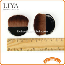 OEM compact loose powder blush brush makeup in half moon shape