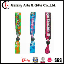 Custom Logo Polyester Woven Cloth Wristbands/Wrist Strap Lanyard