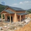 Casa de acero ligera prefabricada concreta simple de la estructura de la viga de acero del chalet Australia