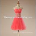 2017 casamento brinde curto vestido de noite melancia cor vermelha rendas tutu saia robe de soirée vestido de noite