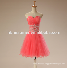 2017 wedding toast short evening dress watermelon red color lace TUTU skirt robe de soiree evening dress