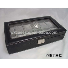 12 grids leather watch travel box wholesale with different color options