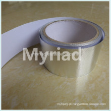 Folha de alumínio Heat-sealing fita, reflexivo e Silver Roofing Material