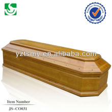 well painted paulownia coffin with satin decoration