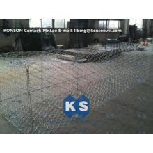 Customized Galvanized Galfan Gabion 3x1x1 Wire Mesh Cage Fo