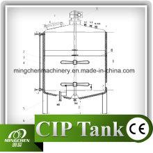 Tanque de armazenamento 100L-20000L de aço inoxidável com rodízios móveis / tanque de armazenamento