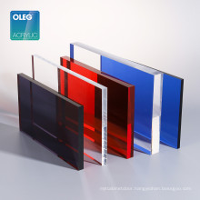 1250*2450mm clear or color cast acrylic sheet perspex plastic sheet