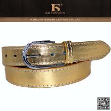 Correa de cintura de oro del metal del OEM de la tapa de la fábrica para la señora de las mujeres