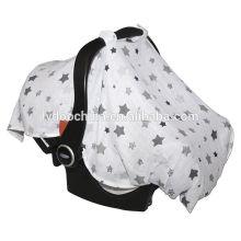 Musselina 100% algodão Mulit-use enfermagem bebê tampa de assento do carro