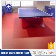 Профессиональный спорт настольный теннис пластик пол заволакивания PVC