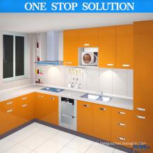 L Form MDF Lack Küchenschrank (PL8906)