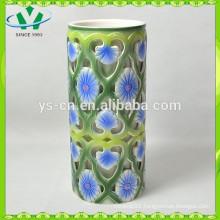 Hot Selling Blue Flower Home Decor Chinese Vase