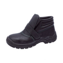 Ufb043 No Lace Black Steel Toe Safety Shoes