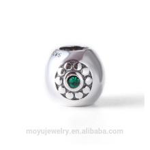 Perle de charme en argent sterling 925 pour bracelet ou bracelet de marque DIY