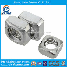 DIN557 en acier inoxydable A2-70 écrou carré avec toute la taille