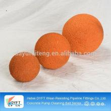 Betonförderschlauch Ball reinigen