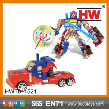 Intelligence Building Block Toy Wiht Music And Light Trans Robot Toy Car