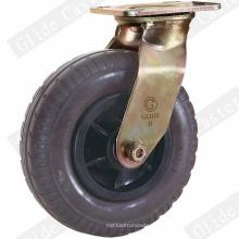 Roulette pivotante en caoutchouc résistant (noir) (GD4220)