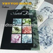 Livro novo do projeto do tatuagem do esboço
